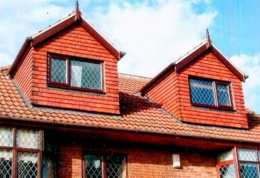 House roof with double dormer loft conversion