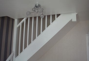 Staircase leading to loft room